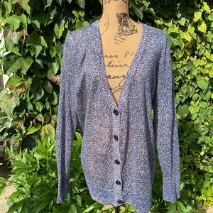 LOFT Animal-Print Cardigan, XL